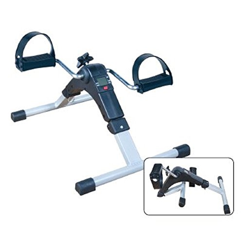 MedMobile Lightweight Portable Folding Mini Bike Pedal Exerciser with Computer Display