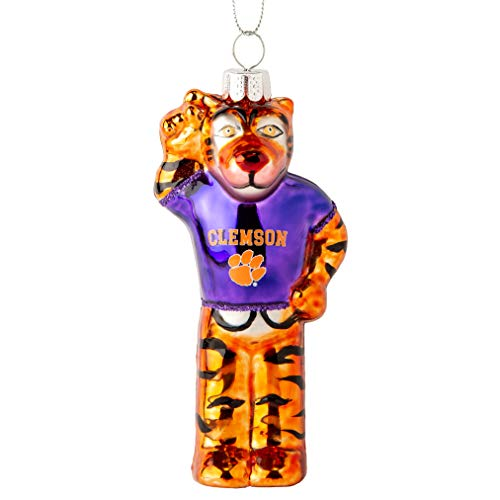 Boelter Brands Clemson Tigers Blown Glass Mascot Ornament -