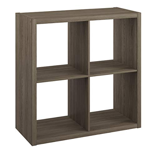 ClosetMaid 4552 Decorative Open Back 4-Cube Storage Organizer, Graphite Gray
