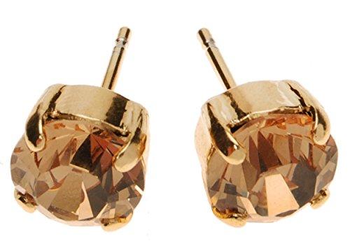 L. Erickson Grace Crystal Earrings - Light Colorado Topaz/Gold - Light Colorado Topaz Gold Plated