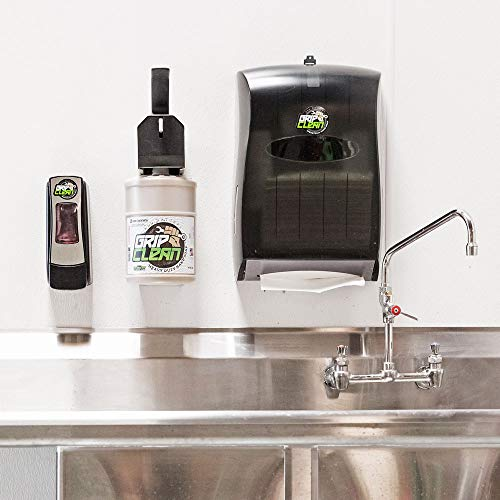 Grip Clean   Dirt Infused Heavy Duty Hand Cleaner - All Natural (2 Jugs + 1 Wall Mounted Industrial Soap Dispenser) Stainless Steel by Grip Clean (Image #4)