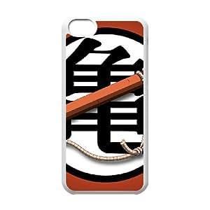 DRAGON BALL Z GOKU símbolo para la funda del teléfono celular 5c mejor cubierta del funda iPhone blanco
