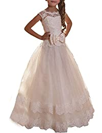 Helen Lace Flower Girls Dresses First Communion Dress072