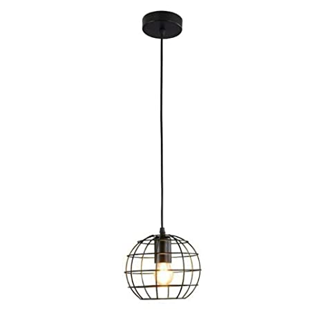 Luces colgantes modernas de la jaula Lámpara minimalista retro de ...