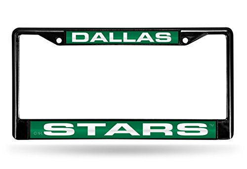 Dallas Stars Laser Black License Plate Frame ()
