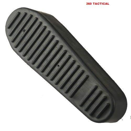 360 TACTICAL Ribbed Stealth Black Slip On Rubber Recoil Reducing Combat Buttpad Butt Pad Deluxe Military Buttpad for Magpul Style MOE CTR Stock AR-15 AR15 M4 Rifle Shotgun