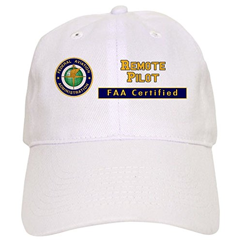 CafePress FAA Certified Remote Pilot Baseball Baseball Cap with Adjustable Closure, Unique Printed Baseball Hat White