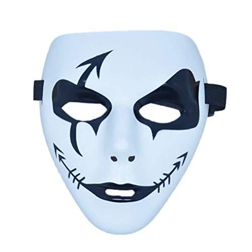 (Full Face Mask Halloween Costume Cosplay Evil Demon Monster Painting Carnival Face Mask Performance)