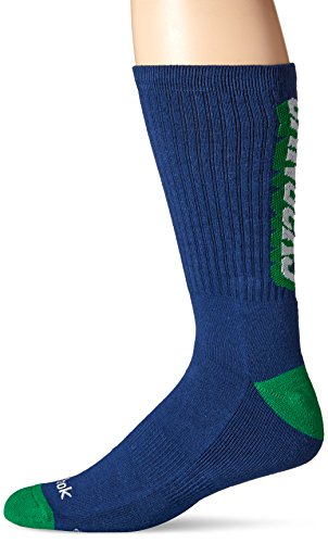 fan products of NHL Vancouver Canucks Men's SP17 Vertical Name Crew Socks, Blue, Size 12-15
