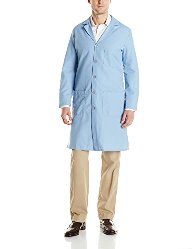 Red Kap Men's Exterior Pocket Original Lab Coat, Light Blue, 36 -