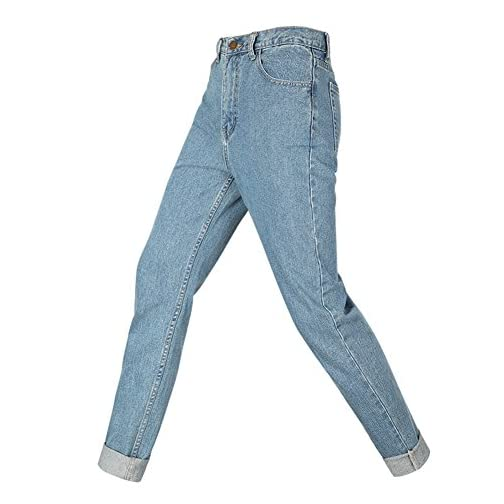 Straight Fit High Waisted Boyfriend Jeans for Women 5