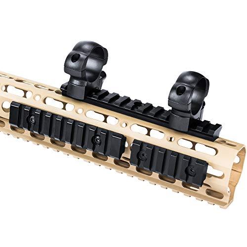 GVN Keymod Aluminum Picatinny Rail Sections,5-Slot 9-Slot 13-Slot Lightweight Rail Section for Keymod Compatible Systems - 3 Pieces (5/9/13 Slot Black)