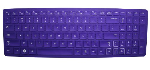 CaseBuy Ultra Thin Soft Silicone Gel Keyboard Skin Protector Cover for Samsung R580, R590, RC510, QX530, SF510, RF510, RF511, RV520, RV511, RV515 US Layout with Retail Packaging - Please DOUBLE CHECK Your Model (Purple) (Samsung R580 Keyboard compare prices)