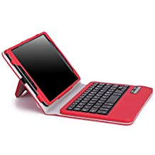 MoKo Samsung Galaxy Tab S2 8.0 Case - Wireless Bluetooth Keyboard Cover Case for for Samsung Galaxy Tab S2 8.0 inch Tablet, RED