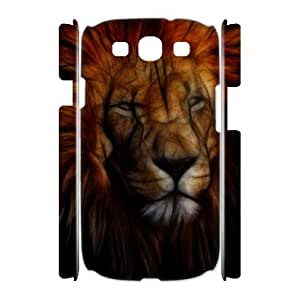 Samsung Galaxy S3 I9300 3D Customized Phone Back Case with Fractal lion Image
