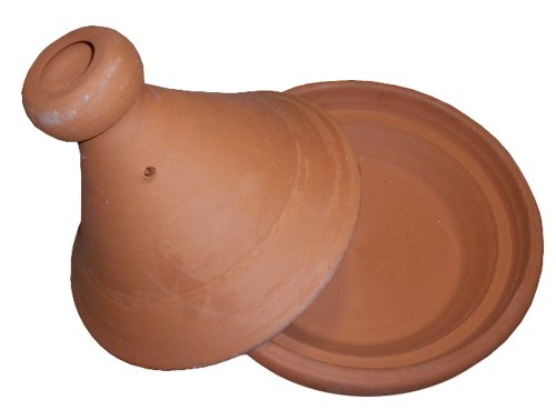 Moroccan Cooking Tagine Small Non Glaze Unglazed Clay Cookware 2 Measurement: extra small 8 inches wide (at base) Cook Chicken, Meat, Seafood or Vegeterian food Ideal for cooking on top of any kind of stove