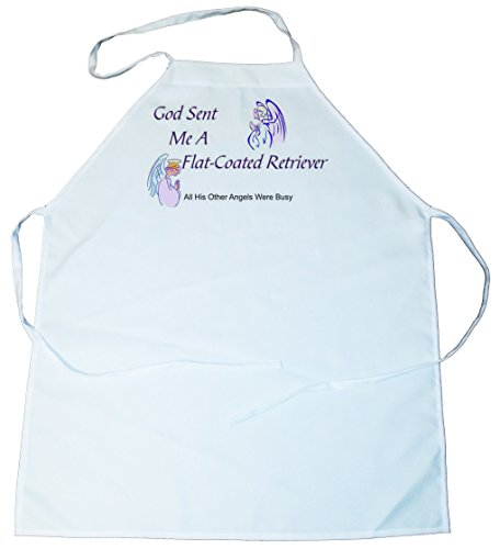 Flat-Coated Retriever - God Sent Me A Flat-Coated Retriever Apron