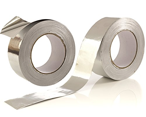 2-Pack Aluminum Tape / Aluminum Foil Tape - 1.9 inch x 150 feet (3.4 mil) Per Roll - Good for HVAC, Ducts, Insulation and More