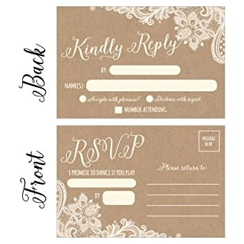 Amazon 50 song request cassette tape generic rsvp cards 50 rustic rsvp cards rsvp postcards no envelopes needed response card blank rsvp bookmarktalkfo Image collections