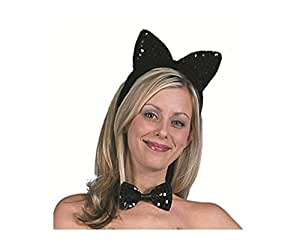 RG Costumes Standard Sequin Cat Ears, One Size