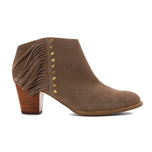 Faros suede Vionic Women's Greige Cowboy Boots Aq1Zw01