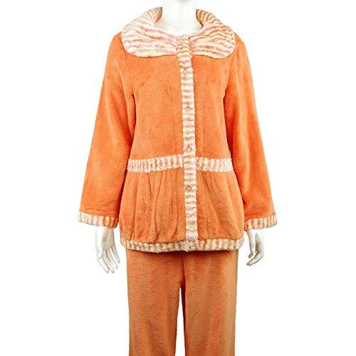 Mujer Manga Conjunto Pecho A Dormir Larga Casual Modernas Un Flecos Camison Pantalones Solo Invierno Elegante Moda De Pijama Pijamas Ropa Espesar Otoño rwArvp