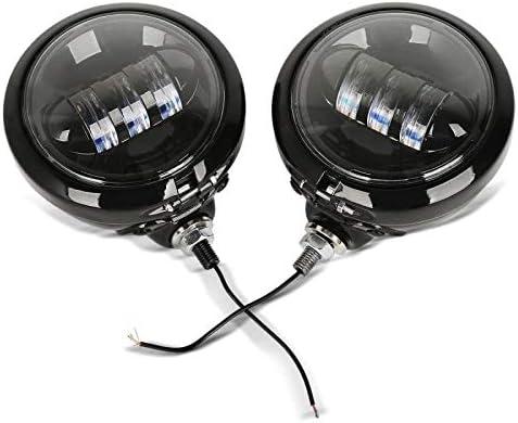 C black Craftride LED Auxiliary Spot Light Set 4.5 for Honda VTX 1800