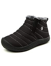 YIRUIYA Kids Snow Boots Anti-Slip Winter Warm Sneakers for Girls Boys