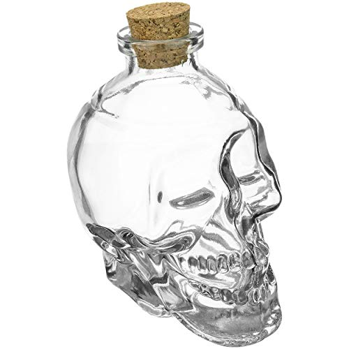 Fairly Odd Novelties FON-10021-ALT2 Glass Skull Decanter - FILL it UP w/Wine, Beer or Liquor, One Size, Clear