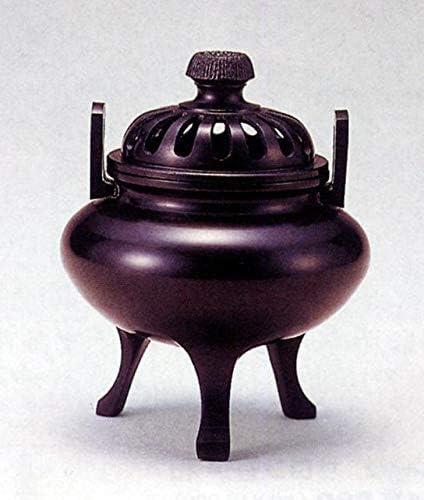 香炉 利久型 (大) 青銅 (ブロンズ) 製 桐箱入り (高岡銅器)