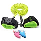 Child Safety Leashes with Lock, HathLove Anti Lost Wrist Link, Reflective Toddler Wristband Rope, 8.2ft Walking Harness for Kids [2 Personal Emergency Alarm Included]