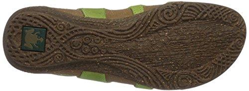 El Naturalista Mujeres N413 Wakataua Flat Sandal Green Cares