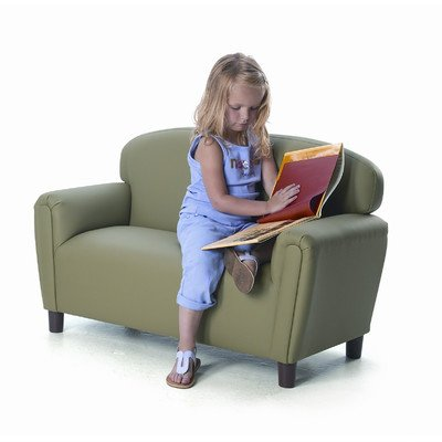 Brand New World Furniture FP2S100 Brand New World Preschool Enviro-Child Upholstery Sofa, Sage - Enviro-Child Upholstery Offers Early Childhood Classrooms An Eco-Friendly And Healthier Upholstery Alternative That Is As Durable And Easy To Clean As Vinyl. Made Of Polyurethane, It Is Pvc-Free. Constructed With A Sturdy Hardwood Frame And Comfortable Dense Foam. Assembled In The Usa. One Year Warranty. Free Of Flame Retardants. - sofas-couches, living-room-furniture, living-room - 41GtRL%2Byb2L. SS400  -