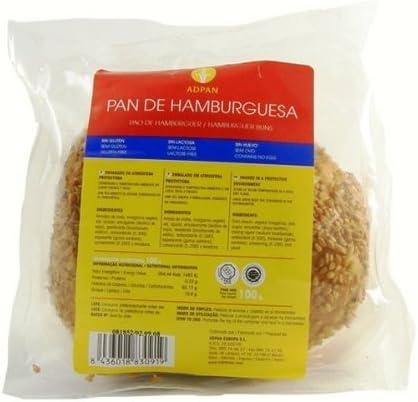 Pan de hamburguesa sin gluten ADPAN (100 gr)