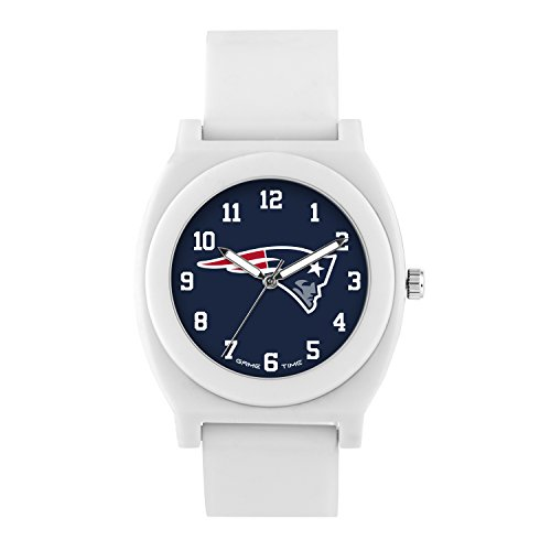 NFL New England Patriots Mens Fan Series Wrist Watch, White, One Size