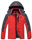 QPNGRP Mens Waterproof Fleece Ski Jacket Windproof