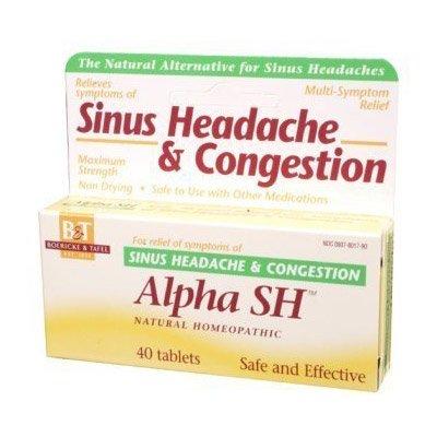Boericke & Tafel - Alpha Sh Sinus Headache, 40 comprimés sublinguaux