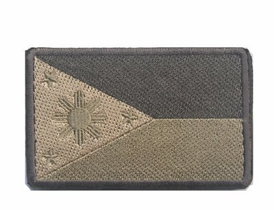 ShowPlus Philippines PH Flag Military Embroidered Tactical Patch Morale Shoulder Applique