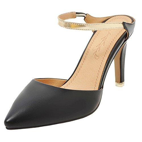 JYshoes JYshoes Mules Noir JYshoes Noir Femme Noir Femme Mules Mules Femme JYshoes Mules qHzFqU