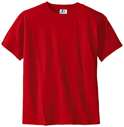 Russell Big Boys' Youth NuBlend T-Shirt, True Red, Medium
