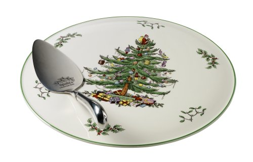 (Spode Christmas Tree Cake Plate and Server)