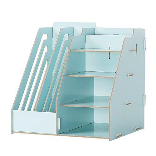 GYP Büro Multifunktions-Schreibtisch-Aufbewahrungsbehälter-Büro-Versorgungsmaterialien Regal-Akten-Regal-Beenden-Regal Regal kaufen ( Farbe   Blau )
