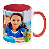 Personalized Coffee Mug Red Inside Add pictures, logo, or text to our Deal