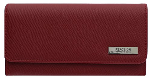 "Kenneth Cole Organizer - 102522-755 Kenneth Cole Reaction Trifold Clutch ""Tri-Ed & True"" (RED SAFFIANO)"