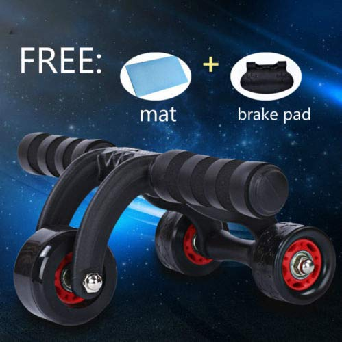 Price comparison product image FidgetFidget 3-Wheel Fitness Ab Roller Workout System Abdominal Abs Gym Exerciser 2016