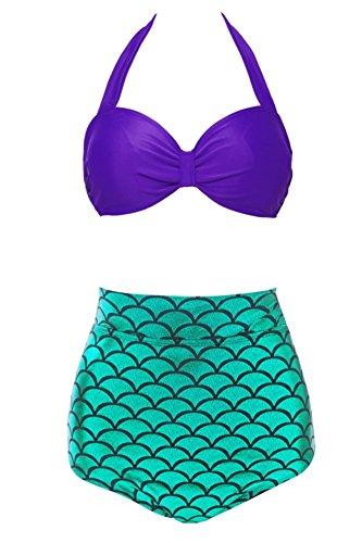 Womans Mermaid Bikini Swimsuit Swimwear