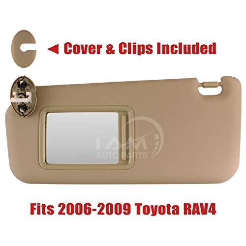 IAMAUTO 99709 Left Driver Side Ivory Tan Beige Sun Visor for 2006 2007 2008 2009 Toyota RAV4 (Sun Visor For Rav4 Driver Side)
