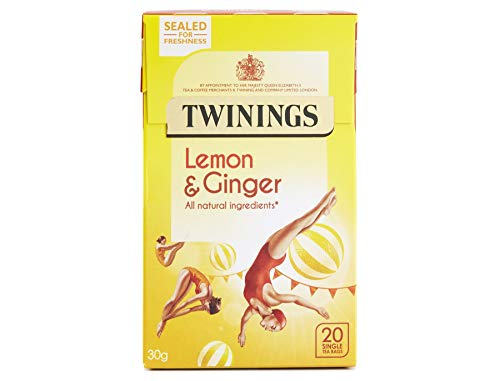 (Twinings Revive Herbal Tea, Lemon and Chinese Ginger,20 Teabag Boxes, 6 Pack)