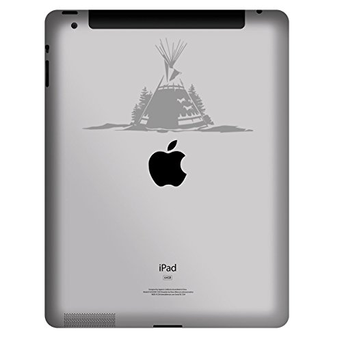 StickAny Tablet Decal Series Tee Pee Tent Sticker for iPad, Galaxy Tab, and Android Tablets (Silver)