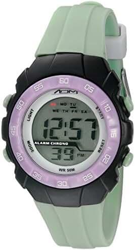 American Design Machine Jr. Kids' ADSG 5001 MNT Phoenix Digital Display Japanese Quartz Green Watch